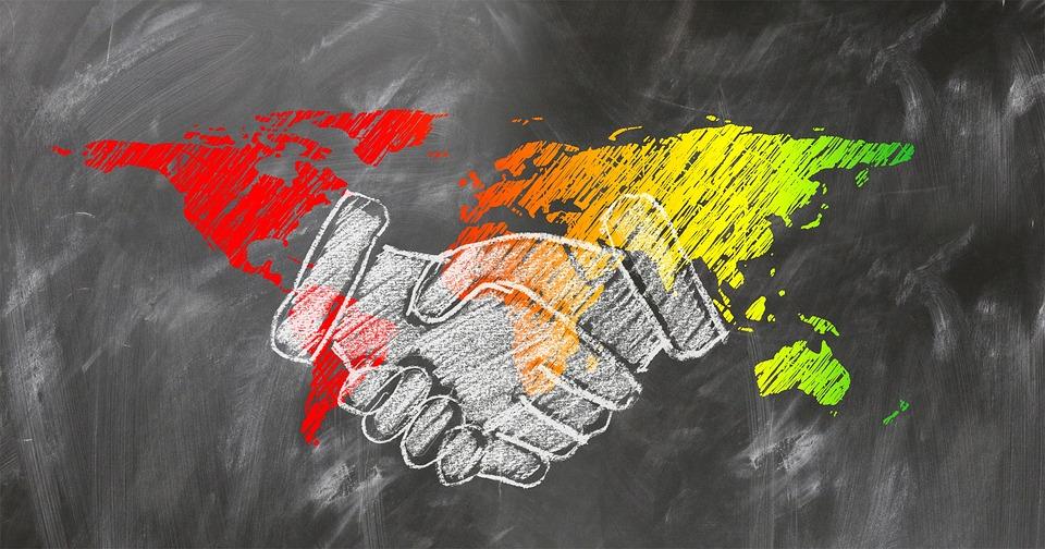 世界と握手