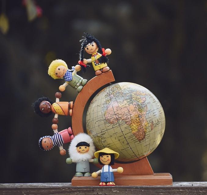地球儀と世界市民